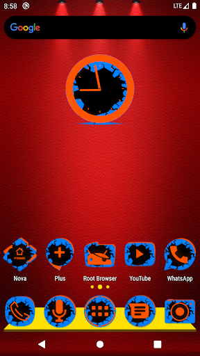 Cracked Blue and Orange Icon Pack Free 4.3 screenshots 1