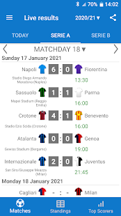 Live Scores for Serie A Italy 2021/2022 2.8.4 screenshots 1