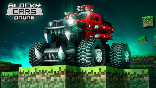 Blocky Cars - jeux de tank, tank wars APK MOD – Pièces de Monnaie Illimitées (Astuce) screenshots hack proof 1