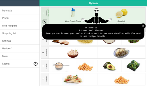 Foto do Fitness Meal Planner