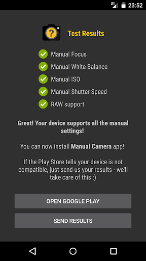 Manual Camera Compatibility 2.5 Screenshots 2