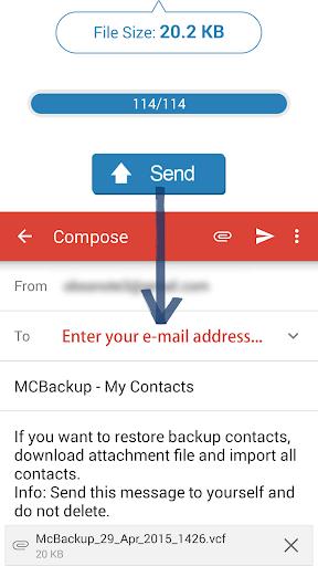 MCBackup - My Contacts Backup 2.1.6 Screenshots 2