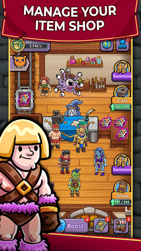 Dungeon Shop Tycoon: Craft and Idle modavailable screenshots 1