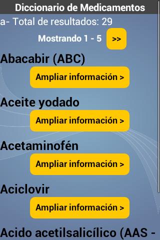 Diccionario de Medicamentos 1.0 Screenshots 3