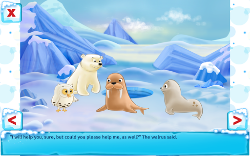 Polar Bear Cub - Fairy Tale with Games Free  screenshots 14