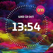 Clock Wallpaper with Date