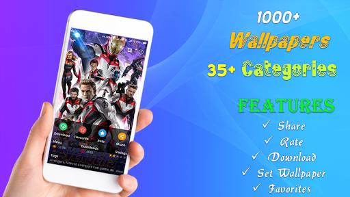 4k superhero wallpaper screenshot 1