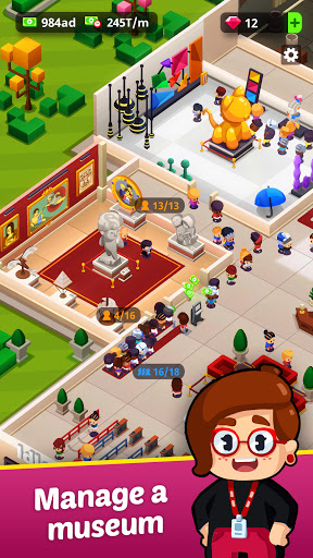 Idle Museum Tycoon: Empire of Art & History apklade screenshots 2