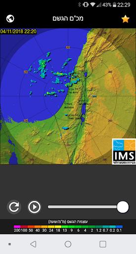 Rain Radar Israel  Screenshots 1