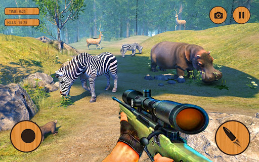 Code Triche Wild Animal Hunting Game:Jurassic World Hunter Sim apk mod screenshots 5
