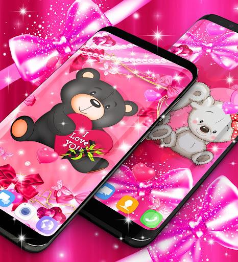 Teddy bear love hearts live wallpaper android2mod screenshots 3