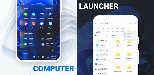 Computer Launcher: PC Theme Emulator on Android
