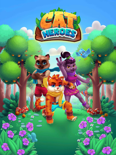 Cat Heroes - Color Match Puzzle Adventure Cat Game  screenshots 14