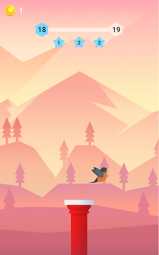 Bouncy Bird: Casual & Relaxing Flappy Style Game 1.0.7 screenshots 1