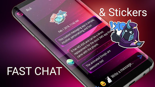 Color SMS theme to customize chat android2mod screenshots 2