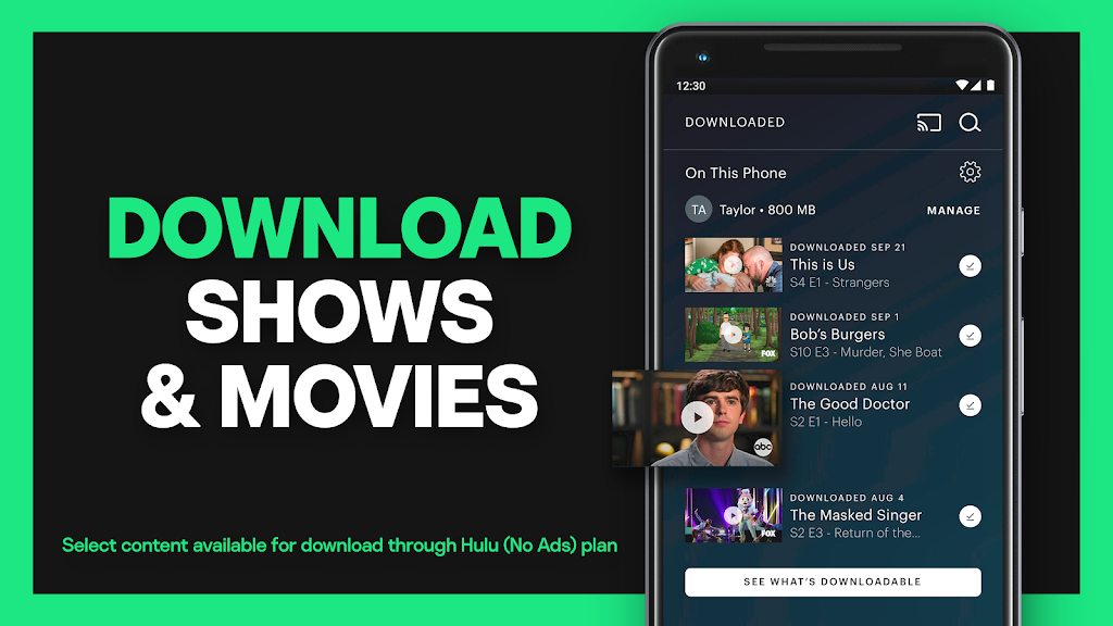 Hulu: Watch TV shows, movies & new original series poster 2