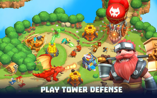 Wild Sky TD: Tower Defense Legends in Sky Kingdom  screenshots 1