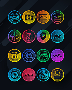 Lines Circle APK- Neon Icon Pack [PAID] Download for Android 8