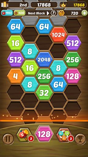 Shoot Number 2048 - Hexa Bubble Shooter  screenshots 6