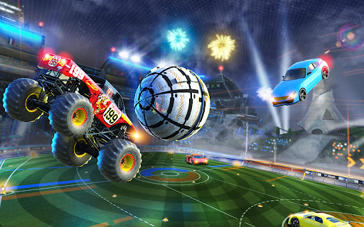 Rocket Car Soccer league - Super Football modiapk screenshots 1