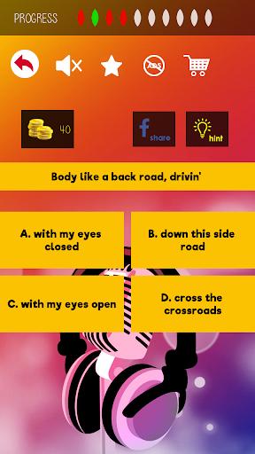 Finish The Lyrics - Free Music Quiz App 3.0.2 Screenshots 5