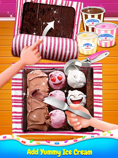 Ice Cream Cake Roll Maker - Super Sweet Desserts 1.9.1 screenshots 1