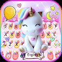 Rainbow Unicorn Smile Keyboard Theme