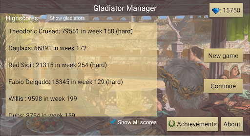 Gladiator manager  screenshots 1