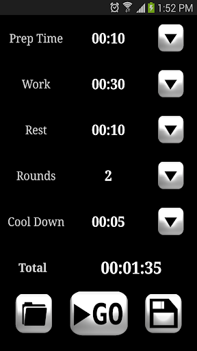 HIIT interval training timer ss1