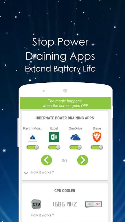Doze: Hibernate Apps, CPU, Settings  poster 3