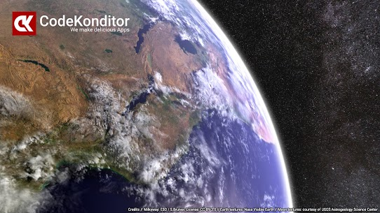 Earth & Moon in HD Gyro 3D PRO Parallax Wallpaper 5