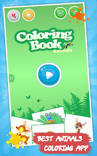 Animals coloring pages : Drawing games for kids