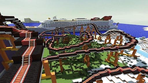 maps for minecraft pe roller coaster screenshot 3