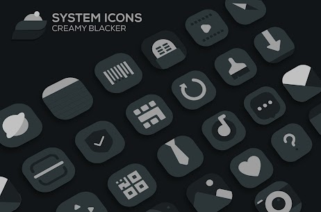 Creamy Blacker Pro Apk: icon pack (PATCHED) 3