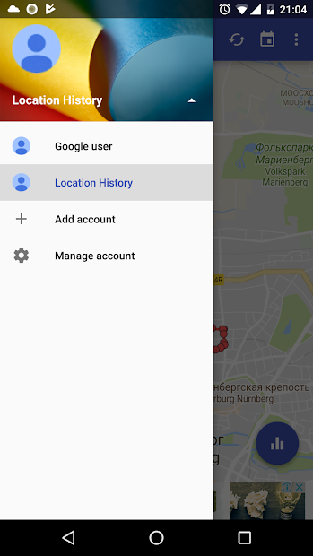 Captura 6 de Historia de Localización para android