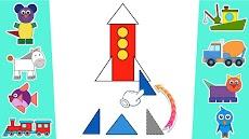 シェイプそして色 - 色彩 子供 ゲームのおすすめ画像2