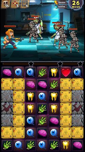Zombie Blast - Match 3 Puzzle RPG Game  screenshots 6