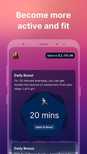 Sweatcoin — Walking step counter & tracker  screenshots 2