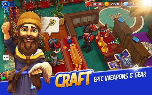 Shop Titans: Epic Idle Crafter, Build & Trade RPG 7.0.2 screenshots 1