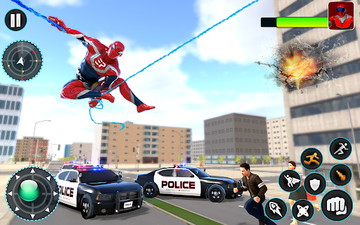 Flying Robot Hero - Crime City Rescue Robot Games 1.7.7 Screenshots 19