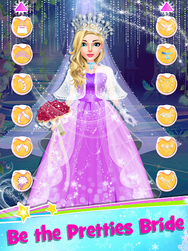 Ice Princess Wedding Dress Up Stylist 0.8 screenshots 9