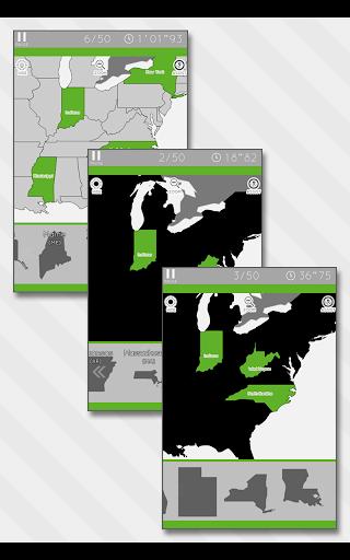 Enjoy Learning U.S. Map Puzzle 3.2.3 screenshots 12