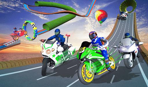 Police Bike Stunt GT Race Game Apkfinish screenshots 12