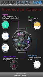 Wooden Gears HD Watch Face Widget & Live Wallpaper