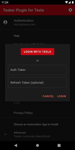 Tasker Plugin for Tesla  Screenshot 2