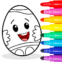 Easter Egg Coloring - Surprise Eggs Game For Kids