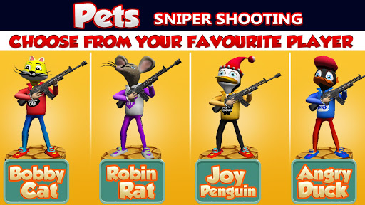 Shooting Pets Sniper - 3D Pixel Gun games for Kids screenshots 5