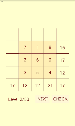 math magic square screenshot 1
