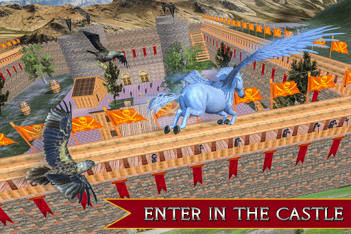 Flying Unicorn Horse Family Jungle Survival android2mod screenshots 6