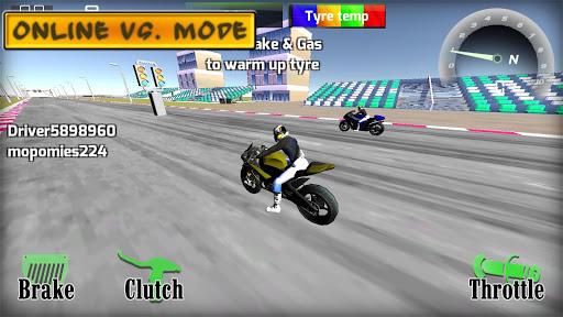 Motorbike  Online Drag Racing - Wheelie racing 3D screenshots 1